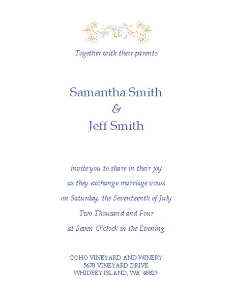free wedding invitation templates microsoft word templates