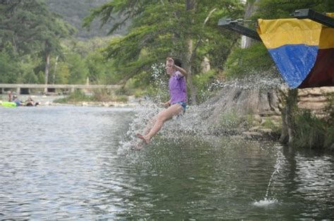 Neals Cabins On The Frio River by Emily Age 10 Takes A Plunge Into The Frio River