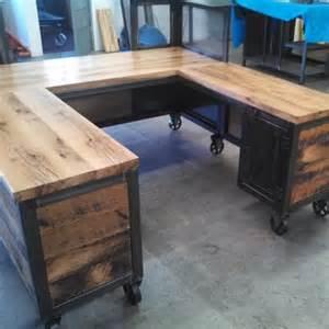 Reclaimed Wood Reception Desk Crafted Custom Reception Desk Reclaimed Wood By Real Industrial Edge Furniture Llc