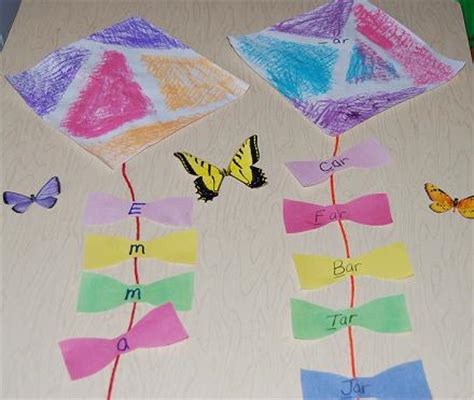 wet chalk kite crafts  learning games  young kids