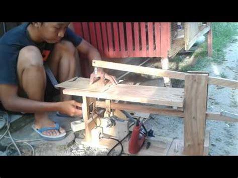 Gergaji Elektrik Mini cara gang membuat mesin bubut kayu sederhana dari me doovi