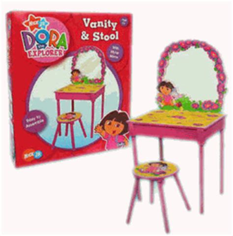 The Explorer Vanity by Nick Jr Furniture Boots Vanity And Stool Set