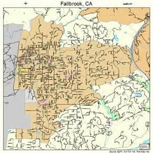 fallbrook california map 0623462