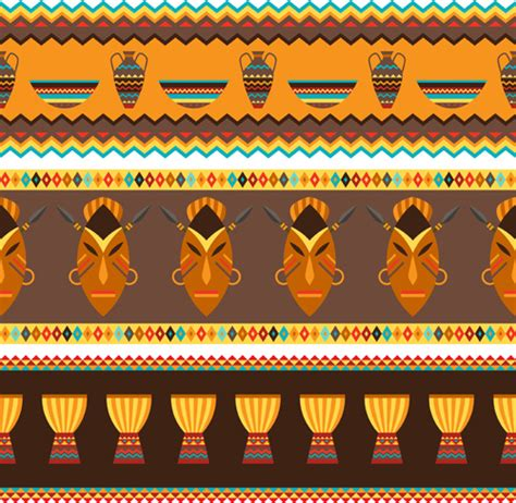 african pattern vector free african style seamless vector pattern free vector in