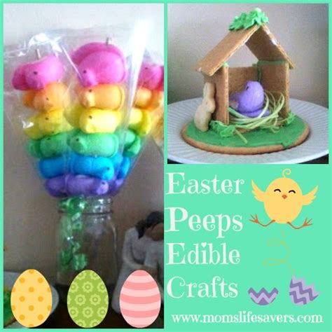 edible easter crafts for happy easter peeps edible crafts s lifesavers
