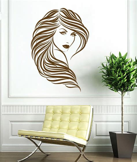 home decor decals decal curly hair wall decals vinyl sticker