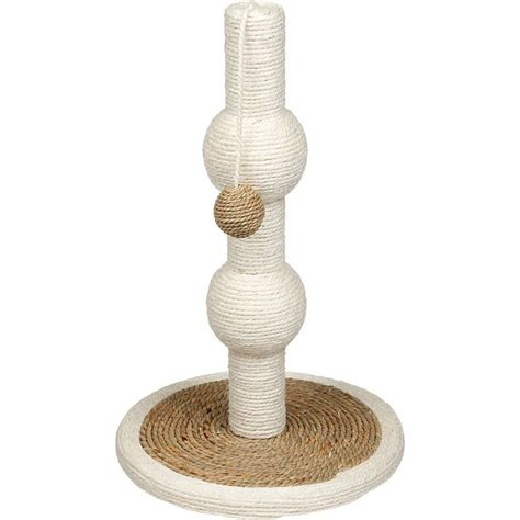 Kuas Cat Cisal 25 planet petco sisal and seagreass orb scratching post base 1 quot h x 12 quot diameter post 18 quot h x 4