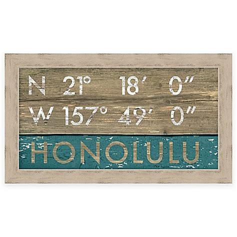 bed bath and beyond honolulu honolulu hawaii coordinates framed giclee wall art bed