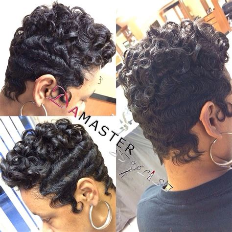dry wave hairdo short finger waves and curls short hair diaries