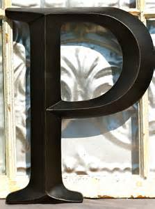 Letter Wall Decor by Large Letter P Sign Letter Wall Decor By
