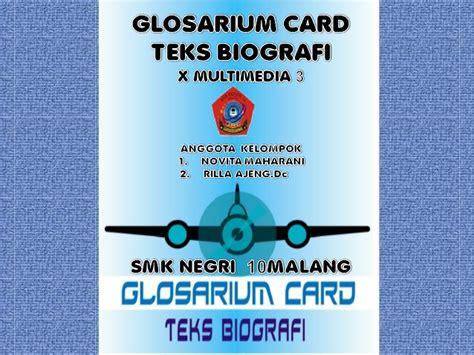 biografi adalah teks glosarium card teks biografi novita maharani rilla ajeng