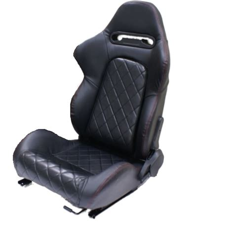 Recliner Car Seat by Black Pvc Leather Eff Reclining Car Seats For