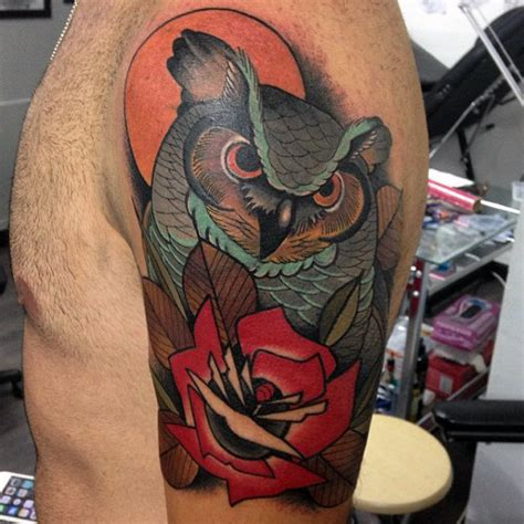 tattoo owl neo traditional 80 artistic tattoos for men a dose of creative ink