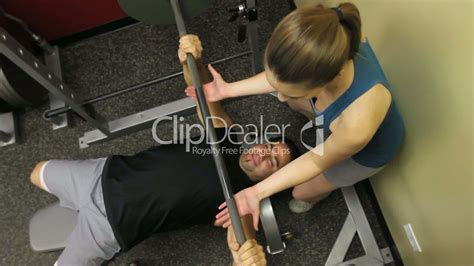 average woman bench press bench press royalty free video and stock footage