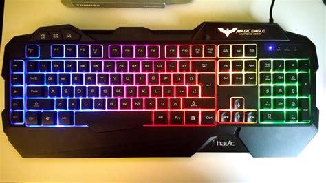 rainbow light up keyboard havit rainbow led backlit gaming keyboard