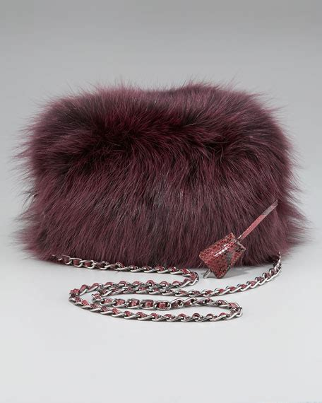 Miuccia Prada Bored With Fur by Prada Fox Fur Clutch