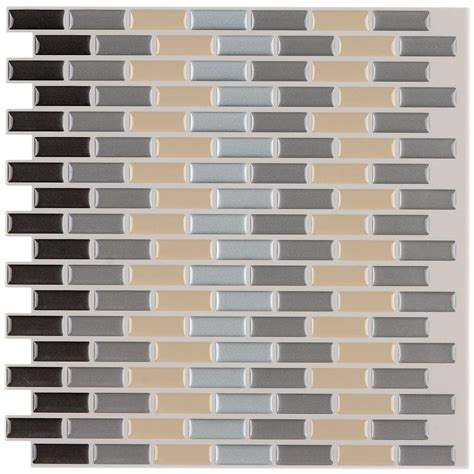 peel and stick wallpaper tiles instant mosaic 12 in x 12 in peel and stick mosaic