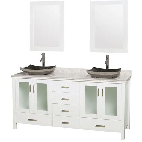 wyndham collection vanity in white with top in