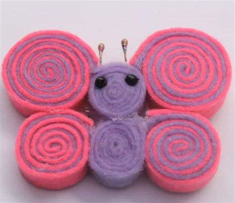 Gigi Delco Model Kupu Kupu cara membuat bros kupu kupu dari kain flanel