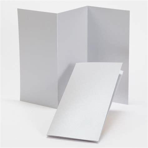 Tri Fold Card Stock Paper - impressions silver shimmer tri fold program 4 x 8