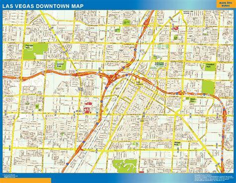 map of downtown las vegas world wall maps store las vegas downtown map more than