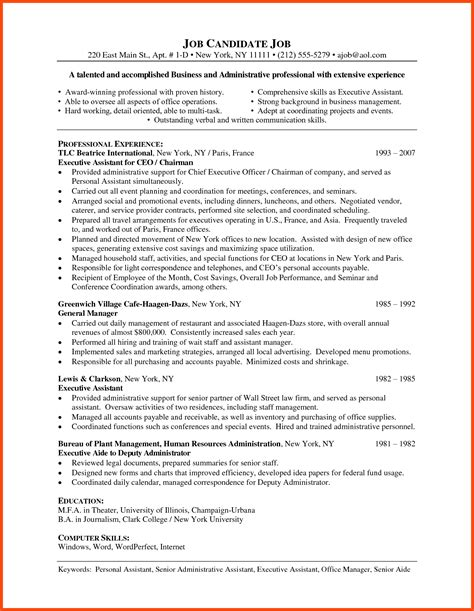 assistant objective statements for resume resume format for office assistant program format
