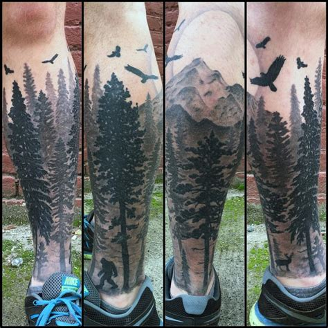 northwest tattoo nic lebrun tattoos nature moon pacific northwest