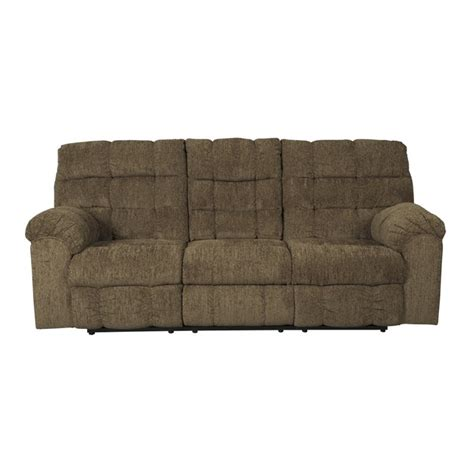 Reclining Sofa With Table Antwan Reclining Sofa With Drop Table In Truffle 4820089