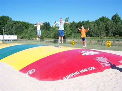 Jumping Pillow by Jumping Pillow At Traverse City Koa Cabins Csites