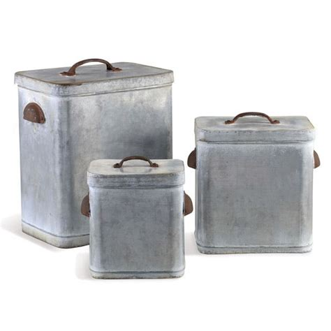 vintage metal kitchen canisters galvanized metal canister set 17 best images about canisters tin on pinterest