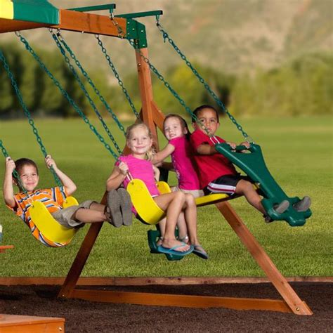 backyard discovery independence swing set independence wooden swing set