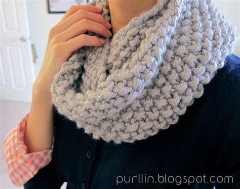 knitting pattern eternity scarf free purllin december seed stitch infinity circle scarf free