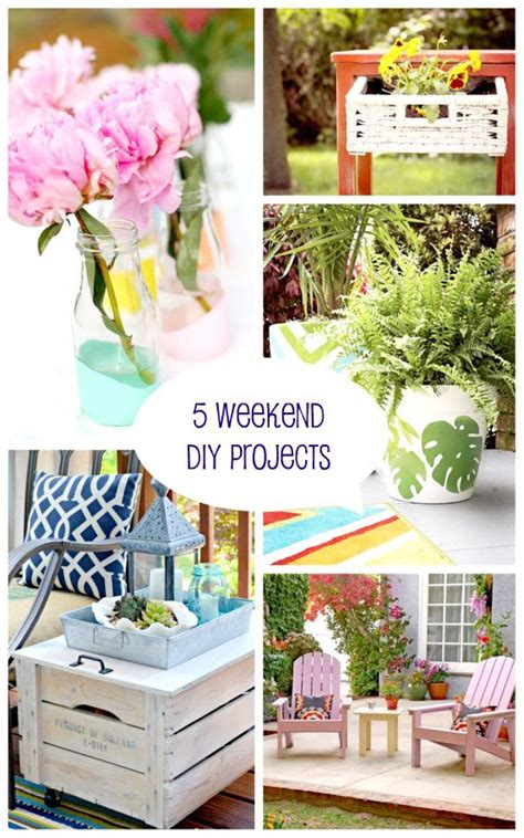 5 Midweek Diy Projects by 5 Weekend Diy Projects