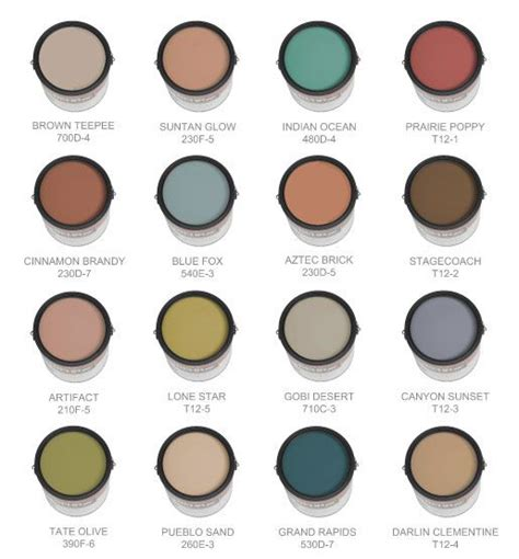 looking for a southwestern palette look no further for the home paint colors