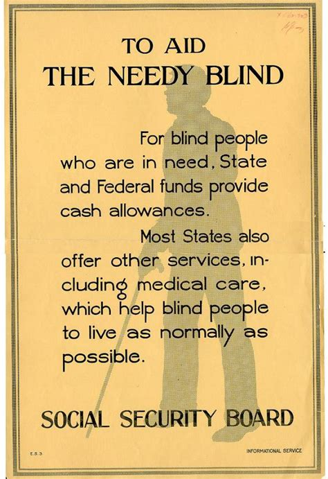 Blind Benefits Social Security social security history