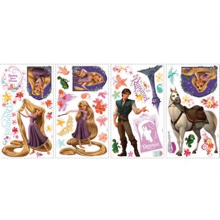 C012 Wallpaper Sticker With Winnie The Pooh 45cm X 10m rapunzel tangled wall decals disney tangled wall sticker stickythings