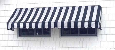 And White Striped Awning by Suppliers Of Commercial Awnings For Business Throughout