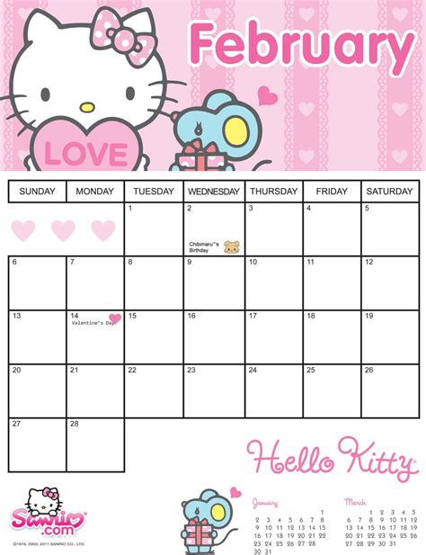 printable calendar 2015 hello kitty search results for hello kitty january 2013 calendar