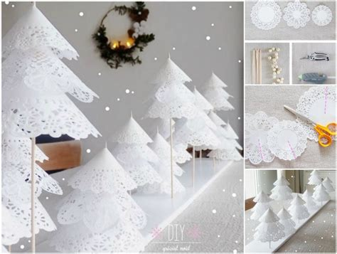 How To Make Doily Paper - diy paper doily tree
