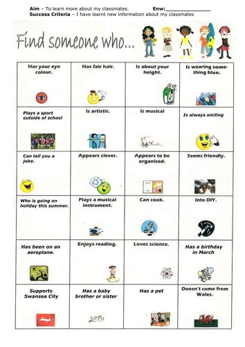 Some Search For A Find Someone Who Ks2 Transition Activity By Carlfarrant88 Teaching Resources Tes