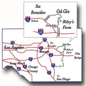 where is oak glen california on map map