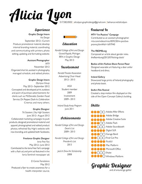 Resume Sle For Design Student Personal Statement Graphic Design Resume Fast Help Wavrock