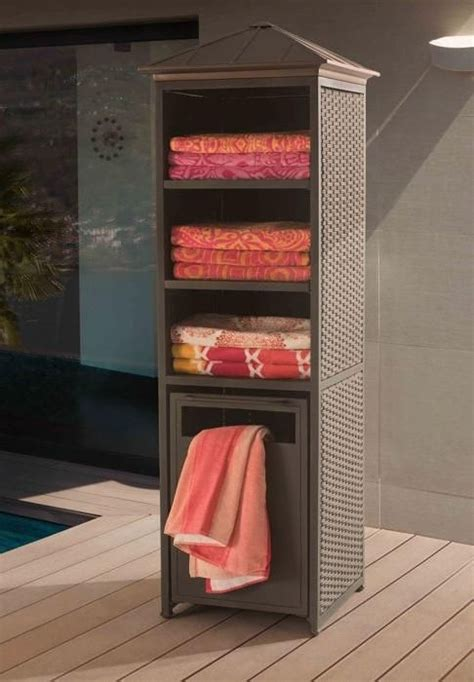 outdoor pool towel storage cabinet 25 best ideas about pool accessories on pool