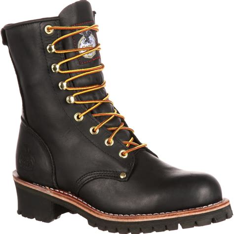 work boots boot s steel toe black logger work boot