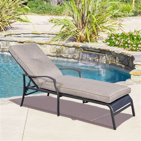 lounge chairs for pool deck adjustable pool chaise lounge chair recliner outdoor patio