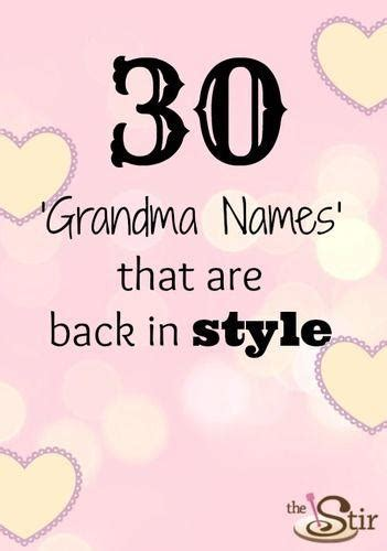 30 old time grandma names that are making a comeback the stir