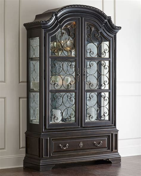 contemporary china cabinets perona china cabinet antique black contemporary