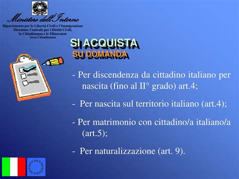 interno cittadinanza ppt la cittadinanza italiana powerpoint presentation