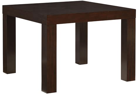 parsons style dining table square parsons style dining table by standard furniture