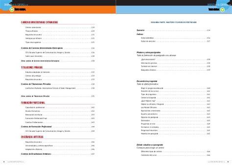 Mba España Ranking by Gu 237 A De Carreras Universitarias Y Master En Espa 241 A 2013